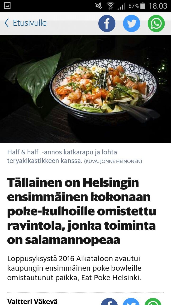 Eat poke helsinki Aikatalo Mikonkatu poke bowls 10,-