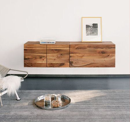 floating shelving. Love the material.
