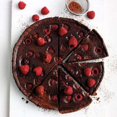 Chocolate and raspberry torte. For the full recipe, click the picture or visit RedOnline.co.uk