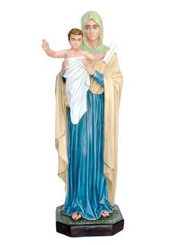 Regina degli Apostoli altezza cm. 103 in vetroresina dipinta con colori acrilici e finiture ad olio disponibile anche con occhi di vetro  http://www.ovunqueproteggimi.com/collezione-statue/madonne/regina-degli-apostoli/