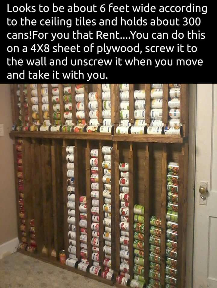 Gonna have to do this since our pantry is super small