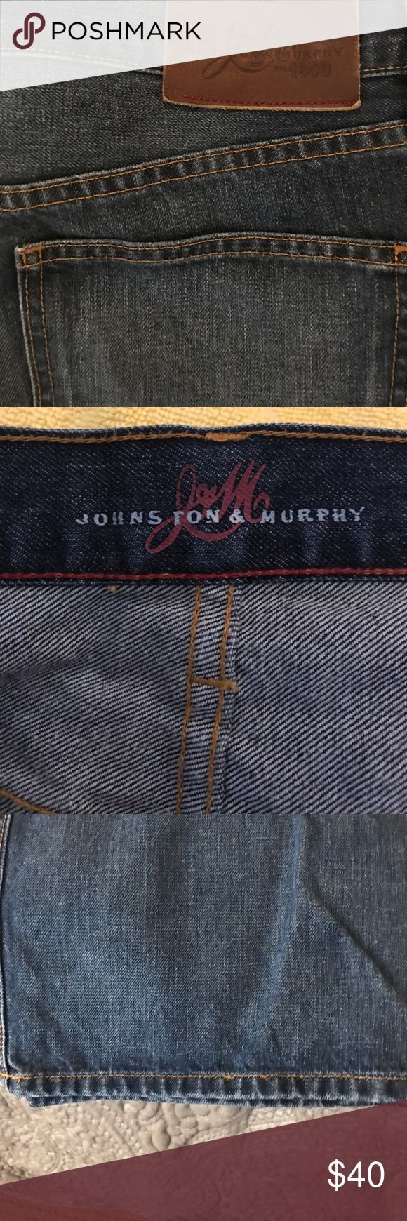 Johnston & Murphy denim jeans, relaxed fit 38/34 Johnston & Murphy relaxed fit jeans 38/34 Johnston & Murphy Jeans Relaxed