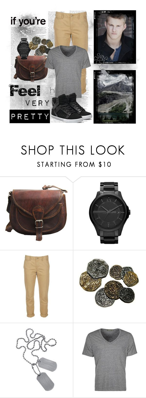 """""""Catos Beach Outfit."""" by thedarkflame ❤ liked on Polyvore featuring Armani Exchange, Polo Ralph Lauren, ELSE, Topman, Alternative and Supra"""