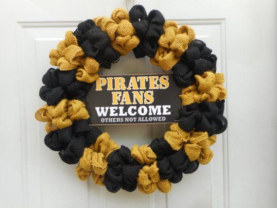 Pirates Wreath Pittsburgh Pirates wreath by ChloesCraftCloset