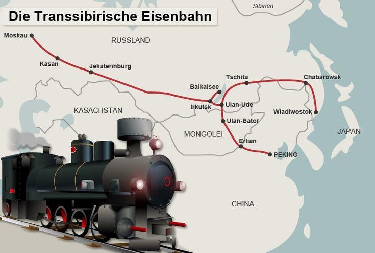Vor 125 Jahren wurde der Bau der Transsibirischen Eisenbahn begonnen. Auf der längsten Schienenstrecke der Welt schaffen Reisende fast 200 Städte in knapp einer Woche.