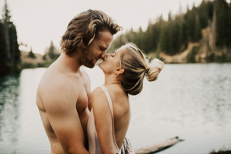As the waters cover the sea, so your love covers me! This engagement photo is oh so romantic!
