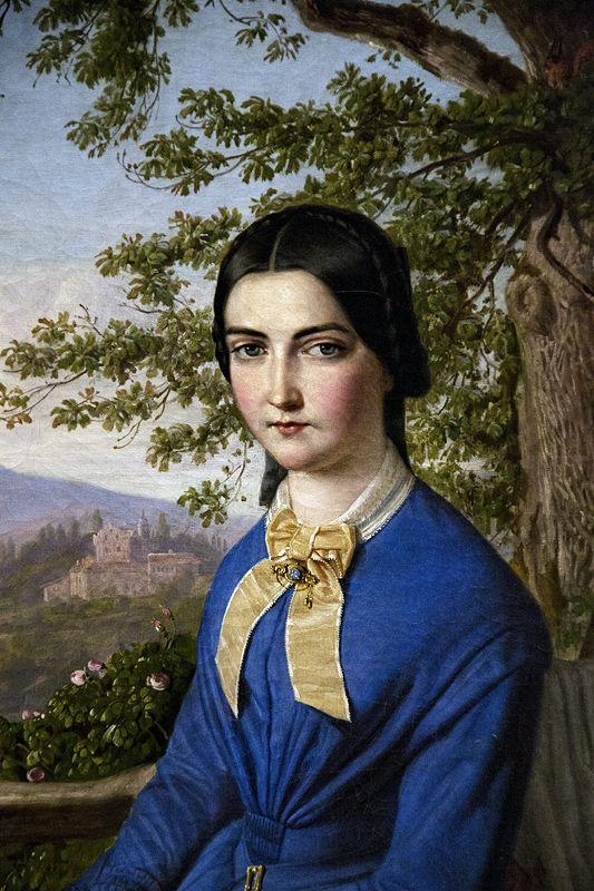August Lucas, Bildnis der Christine Chelius. Hessisches Landesmuseum Darmstadt