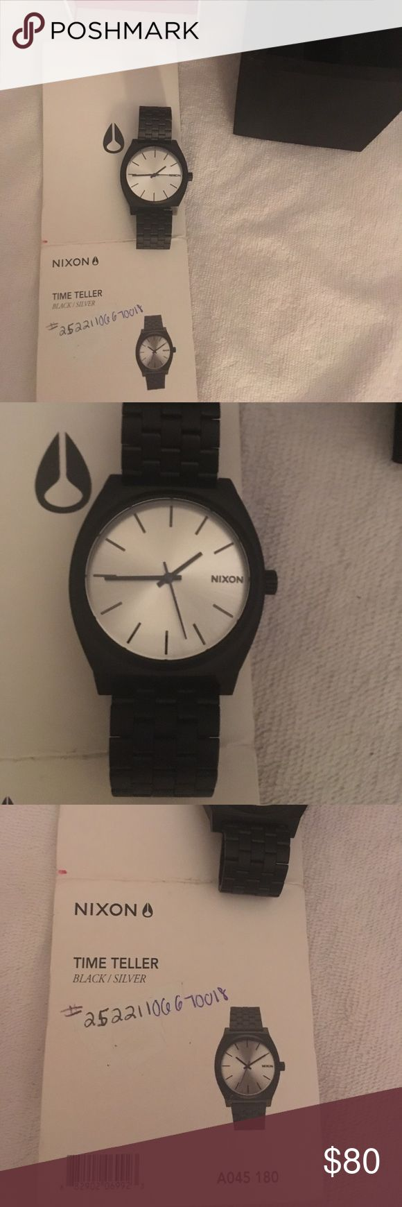 Black all metal Nixon watch Fantastic!! New in box!! Brilliant!!! Nixon Accessories Watches