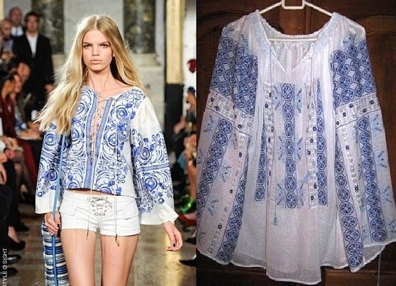 Emilio Pucci, inspired by the #RomanianBlouse #LaBlouseRoumaine