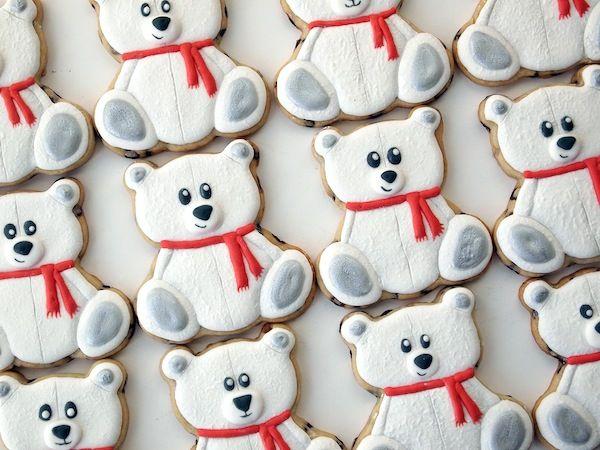 Polar Teddy Bear Cookies | Make Me Cake Me