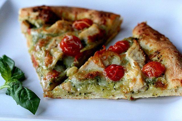 chicken pesto pizza by annieseats, via Flickr