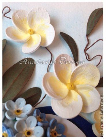 Картина панно рисунок Бумагопластика Квиллинг Фантазия Бумага Бумажные полосы Краска Проволока фото 5