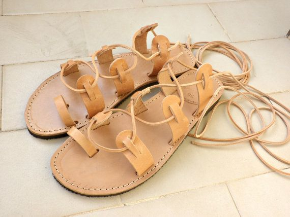 Gladiator sandals, Lace up sandals,Womens leather sandals,Beach shoes, Ancient Greek sandals, Spartan sandals, Genuine leather sandals,