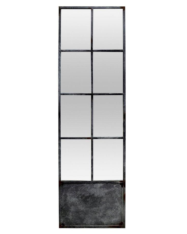 mirrordeco.com — Full Length Window Pane Mirror - Metal Frame  H:200cm
