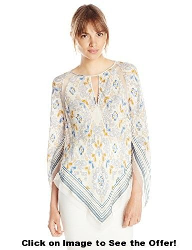 BCBGMAXAZRIA Women's Elyza Print Blocked Top