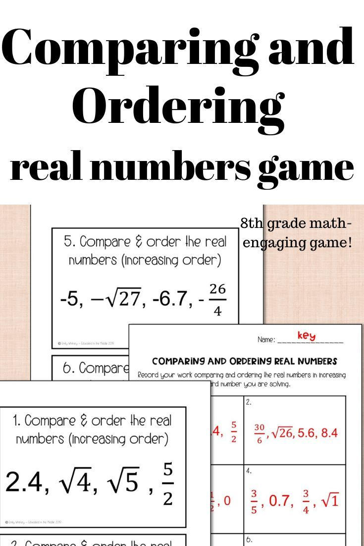 Comparing And Ordering Real Numbers Game Real Numbers Number Games Real Numbers Activity [ 1102 x 735 Pixel ]