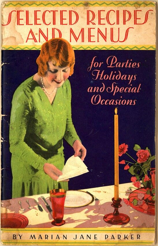 By Marian Jane Parker; guaranteed tips and hints on entertaining; mentions using Jell-O; children's birthday parties, afternoon tea, Thanksgiving dinner, June weddings, Valentine's, etc. Images of each page from this item are available. Chapter headings: Introduction - Novel Ways of Serving Par...