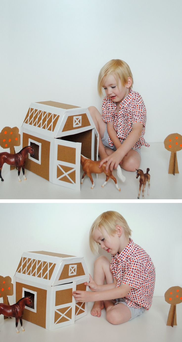 Horse Stable DIY with Cardboard and Duct Tape