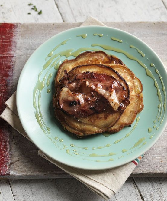Banana pancakes with bacon make a brilliant brunch for weekends