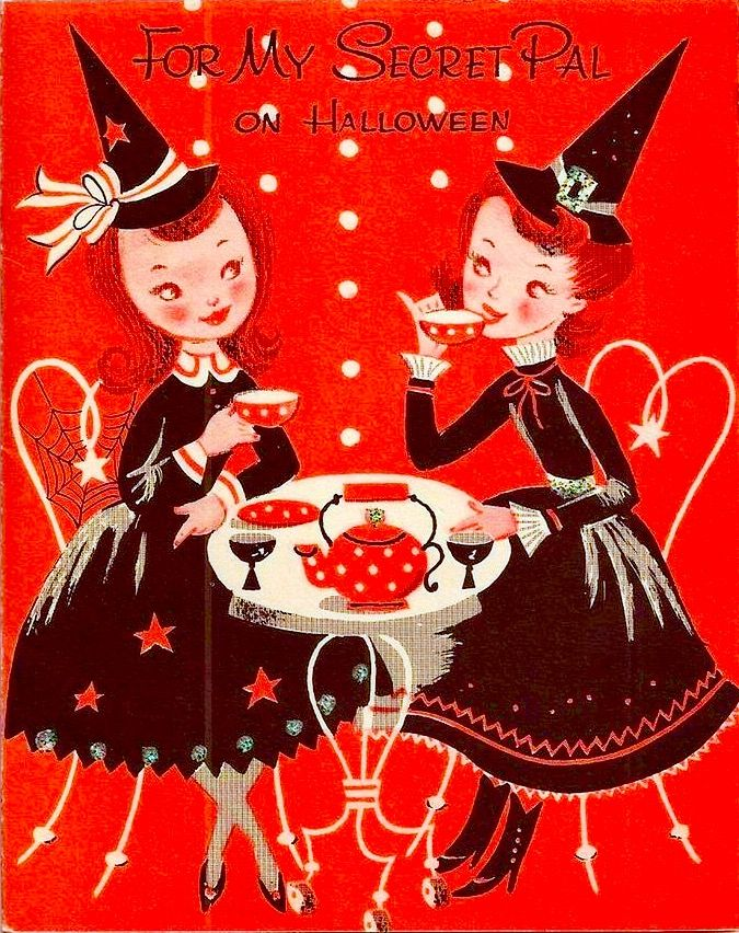 too charmingly cute for words vintage halloween - Vintage Halloween Witches