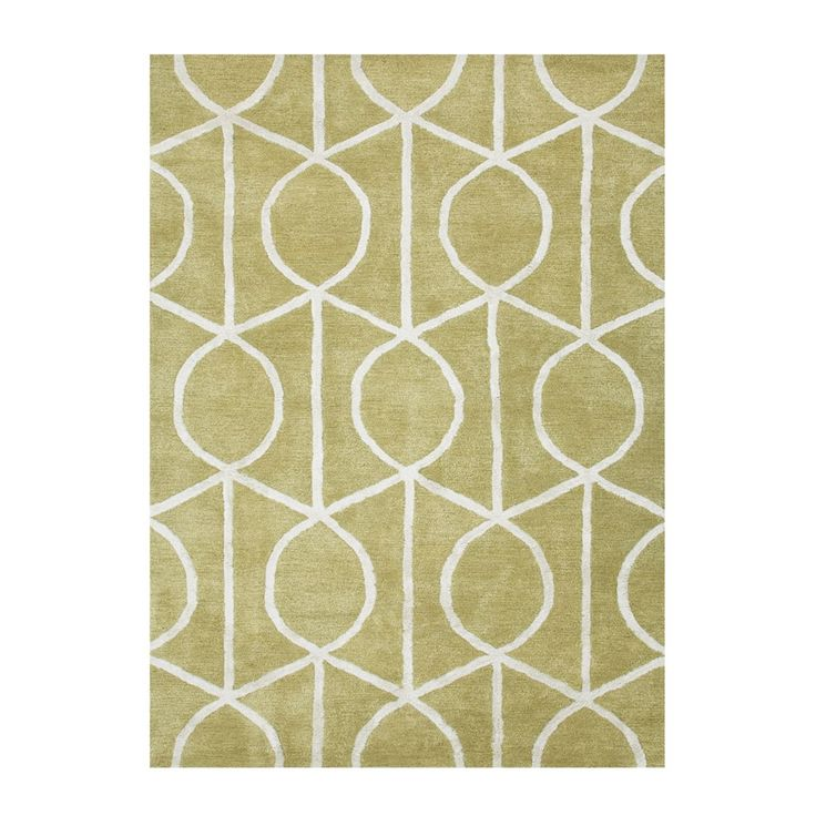 Rugstudio Presents Jaipur Rugs City Seattle Paradise Green Cloud White Hand Tufted Good Quality Area Rug