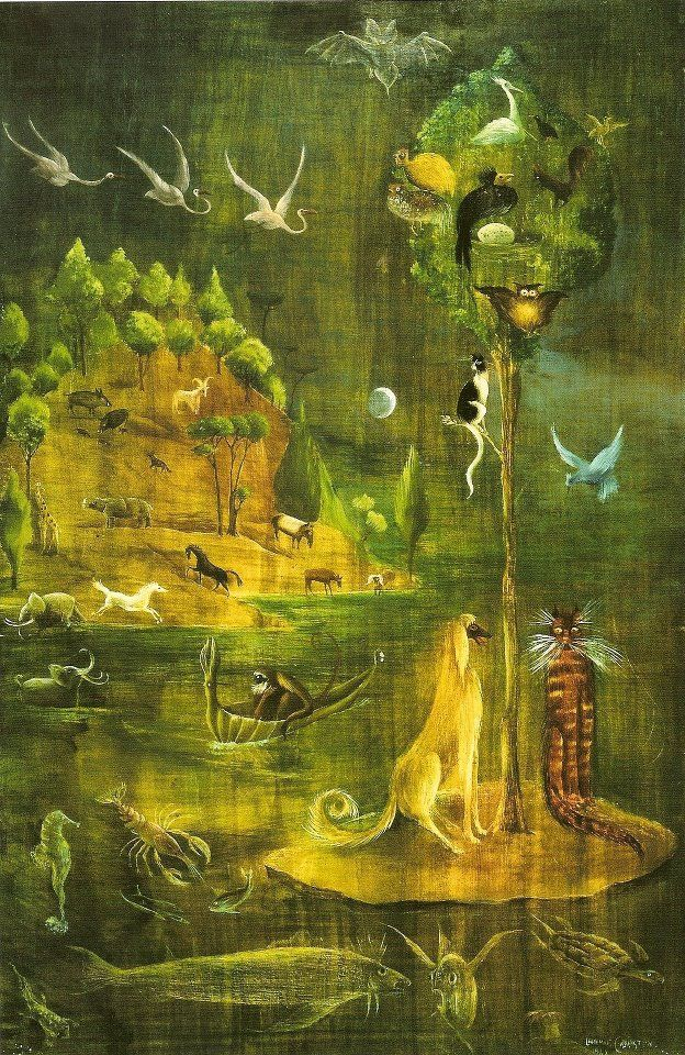 Leonora Carrington (1917 - 2011), b. UK. Mexican Surrealist, writer, sculptor, and painter.
