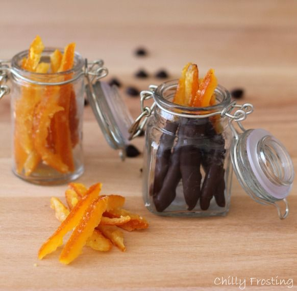 Candied Orange Peel, delicious plain or dipped in dark chocolate, nice homemade Christmas gift