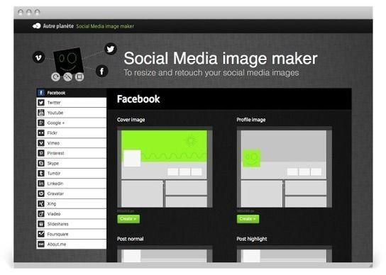 [FREE] Social Media Image Maker [Resize and Retouch Your Social Media Images]     This online tool makes it easy to resize and retouch photos for a wide range of social networks and chat applications, including Facebook, Twitter, LinkedIn, Google+, Youtube, Skype, Pinterest, and many more. Simply drag and drop your files to begin. Supported formats: .jpg and .png     Social Media Image Maker is a website that will help out anybody who is trying to get the ideal image for their online…