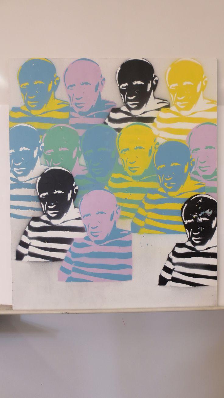 Eerbetoon aan Picasso, door Roy                        (onder constructie)