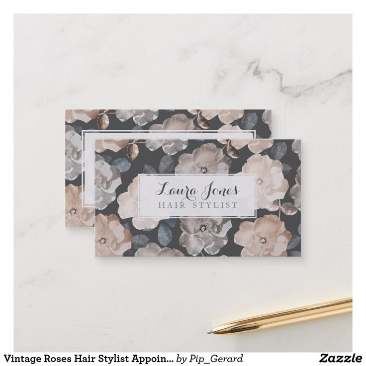 Vintage Roses Hair Stylist Appointment Cards Ad-Gorgeous vintage soft antique grey, cream and neutral rose flower background...so soft and feminine and beautiful! Modern but vintage style, chic, stylish, stylist business card template that you can personalize easily yourself here and now online and have them delivered to your door!