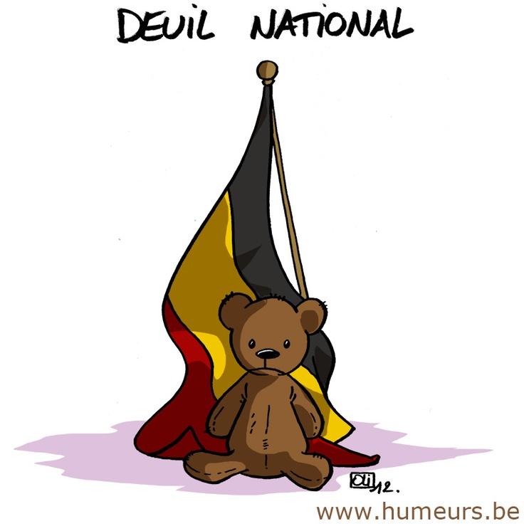 Journée de deuil national en Belgique en hommage aux victimes du tragique accident de car en Suisse. http://www.humeurs.be