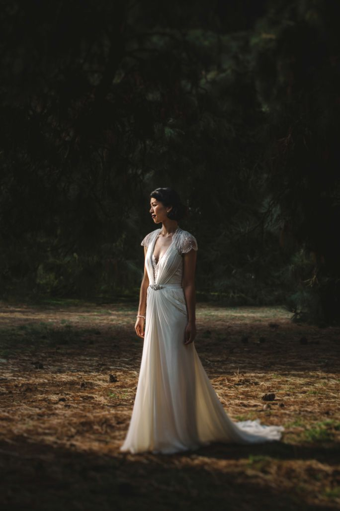 Werribee Mansion Wedding by Lucy Spartalis -  Melbourne based Destination Wedding Photographer. Dress by Jenny Packham.