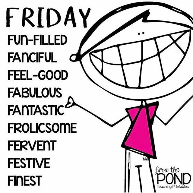 Yay for FUNDAY FRIDAY! 💕 📷 @fromthepond #funday #fundayfriday #friyay    #Regram via @misstessclassroom