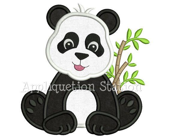 Parque zoológico bebé oso Panda apliques máquina bordado diseño selva Boy chica animal lindo descargar INSTANT