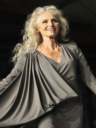 "83 year old model Daphne Selfe -  How have you handled the aging process?  ""It's going to happen, so why worry? My generation got on with it,"""