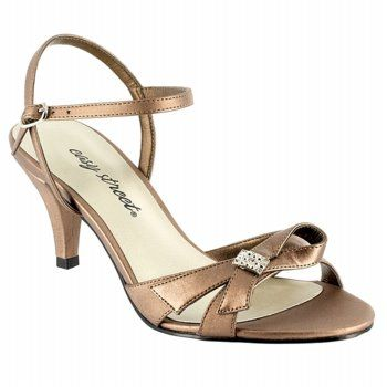 Mom's Mother of the Bride Shoe? Womens Easy Street Starlet Bronze Satin Shoes.com