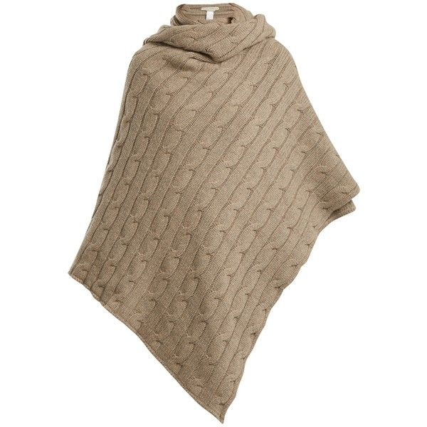 Queene and Belle Aspen cable-knit cashmere wrap (60.225 RUB) ❤ liked on Polyvore featuring accessories, scarves, beige, beige shawl, cashmere shawl, cable knit shawl, cashmere scarves and cable knit scarves