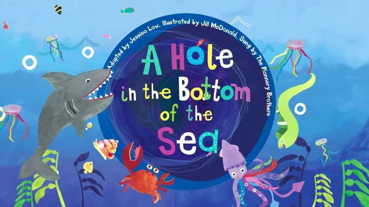 A Hole in the Bottom of the Sea (can be paired with book): fast tempo sequencing ocean creatures including shark, eel, squid, crab, snail, weed, sun,