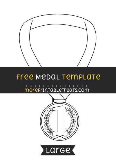 Free Medal Template Large