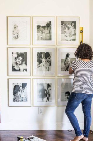 Creative photo wall display ideas to decor your room (32)