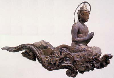 Cloud memorial Bodhisattva - Byodoin Temple -03