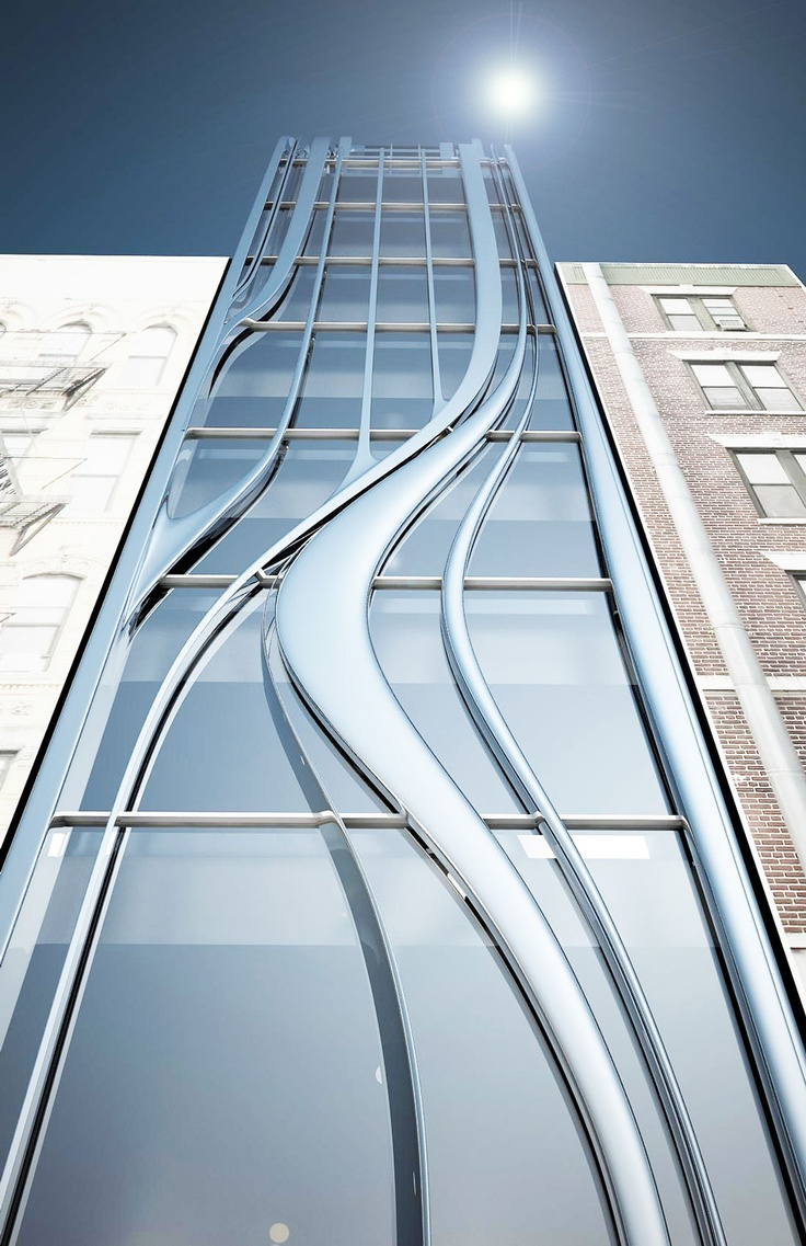 Futuristic Architecture, L.E.S. Residential Building | Gage / Clemenceau Architects