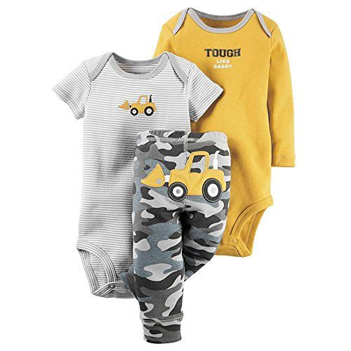 Carters Baby Boys 3 PieceTake Me AwaySet Baby  Awesome Lil Dude Newborn Tough Like Daddy ** Find out more about the great product at the image link.-It is an affiliate link to Amazon.
