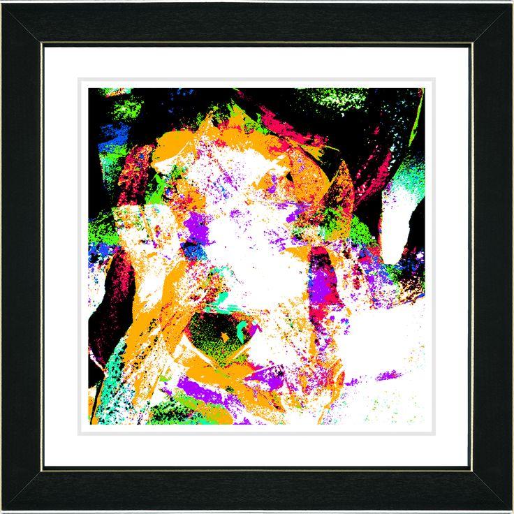 Studio Works Modern 'Sandstorm - Orange' Framed Art Print