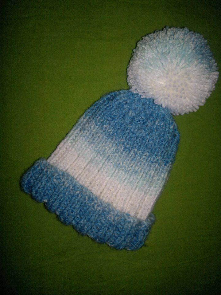 knitted baby beanie - knitting