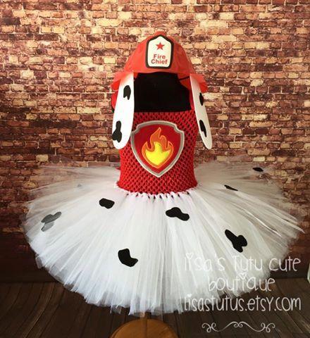 Paw Patrol tutu dress. Marshall tutu dress. Dalmatian tutu dress. Fireman tutu. Fireman tutu dress. Paw patrol birthday by LisasTutus on Etsy