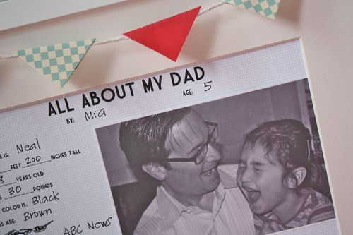 """""""All About My Dad"""" free printable from @Malia Littlefield Martine Karlinsky.  So great for Father's Day!"""