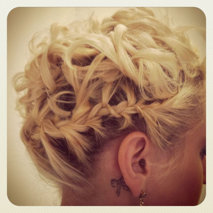 Braid Short Hair Curly Updo By: CHAIRish The Day