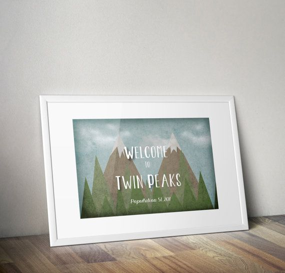 Twin Peaks  Bienvenue à Twin Peaks par MySweetPaperCard sur Etsy