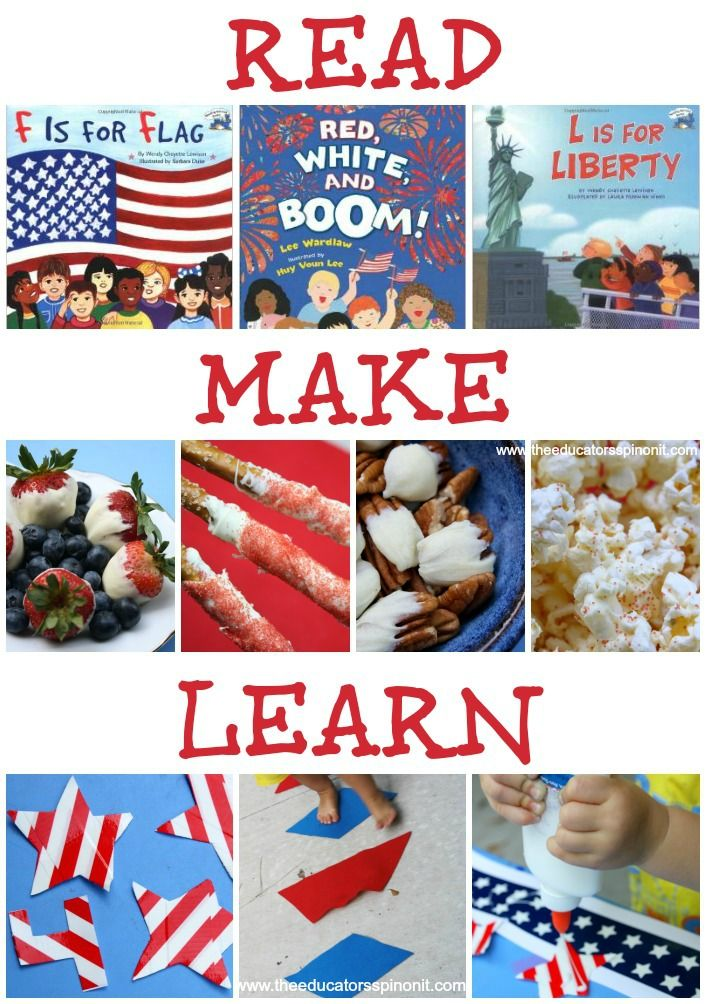 Educational Patriotic Playdate: Read, Make, Learn, and PLAY!!!!! #EDUspin 4th of July, Memorial Day, Patriotic Crafts, Flag Activities, Red-white-blue!